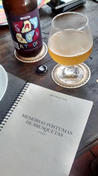 Cardápio na Books and Beers