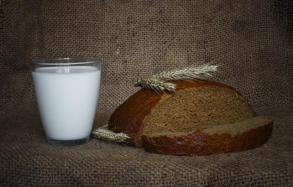 leite pão