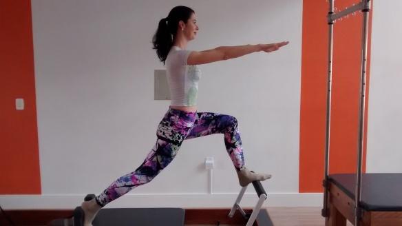 Eu aí fazendo pilates. Foto: Bruna Zanoni Bossle, divulgação